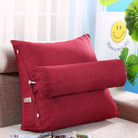 Big Triangle Sofa Cushion Pillow Bed Cushion Back Office Meditation Living Room Pillows Cojines Sofa Cushions Home Decor FK063