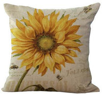 Latest Design Hand Painted Color Printed Cotton Linen Pillow Living Room Chair Decor Cushion Flower Pattern 45cm