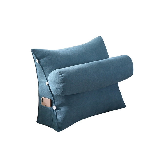 Triangle Sofa Cushion Back Waist Pillow Bed Waist Living Room Chair Meditation Cushions Backrest Pillow for Bed Cojin Gift FK040
