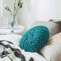 luxury chunky giant yarn Throw pillows for couch bed solid thick handmade knitted decorative cushions for living bedding room