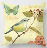 Europe And The United States Style Vintage Flowers And Birds Cushion Parrot Peacock Feather Rose Petals Pillow For Living Room