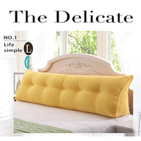 Sofa Long Cushion Backrest Living Room Grand Nordic Baby Backrest Pillow For Bed Cojin Rosa Capa Para Sofa Modern Home Decor A93
