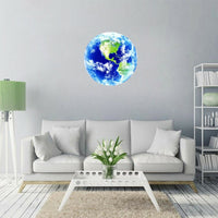 3D Glowing Wall Sticker Glowing Blue Earth Luminous Decoration Home Gadget Gift