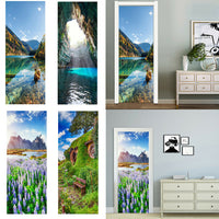 Door Stickers DIY 3D Mural For Living Room Bedroom Door Decor Poster