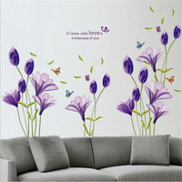 1 pcs Flowers Home Living Room Mural Decor Art Room Decor DIY Wall Sticker
