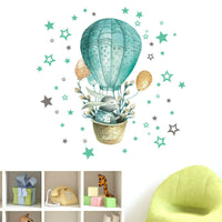 Air Rabbit Printed PVC Sticker Wall Sticker Wallpaper Living Room Decoration G