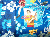 SEY 2 ELVIS PRESLEY BLUE HAWAIIAN TROPICAL HAWAII ACCENT PILLOW SHAM COVER CASE