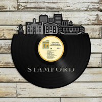 Stamford CT Vinyl Wall Art Record Cityscape Home Room Decoration Bachelor Gift