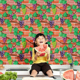 Self-adhesive 3D Wall Paper Brick Stone Wall Sticker Decal Home Decor Removable