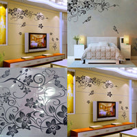 Floral Vine Removable Wall Stickers Living Room Vinyl Art DIY Home Decorations