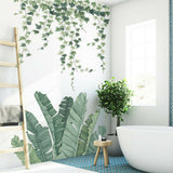 1xTropical Leaves Green Plant Wall Sticker Vinyl Decal Living Room Decoration