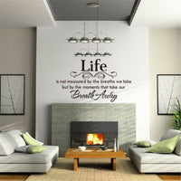 Breath Away Saying Wall Stickers For Living Room Bedroom Decoration S1