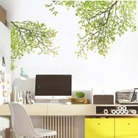 Tree Branch Wall Sticker Green Tree Wall Art Decals 60x90cm Home Decor Sticker