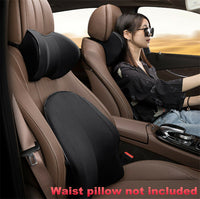 1x Universal Car Seat Pillow Cushion PU Leather Memory Foam Headrest Neck Pad