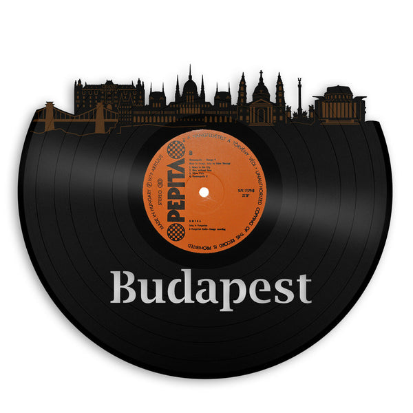 Budapest Vinyl Wall Art Record Cityscape Home Room Decoration Bachelor Gift