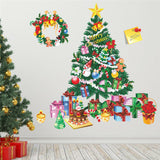 Christmas Tree Gift Wall Stickers Living Room Bedroom Wall Decor Mural Poster