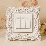 Switch Sticker Picture Frame Resin Power Cover Decoration Wall Home Living Room