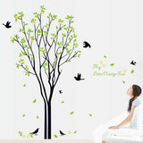 Lemon Tree Bird Wall Sticker Adhesive Decal Mural Living Room Bedroom Decor Cos