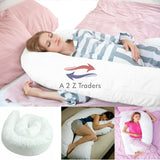 12ft U Pillow Pregnancy Body Support Best Giant Maternity Adult Support Cushion