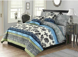 LUXURY DUVET COVER SET WITH PILLOW CASES QUILT BEDDING SET SINGLE (137 x 200 cm)