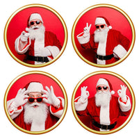 4pcs Christmas Wall Sticker Xmas Santa Claus Decal Living Room Home Decor #Z