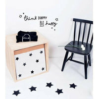 Think Happy Be Happy Quotes Wall Sticker Home Decor Living Room Bedroom Kids N3