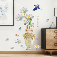 Flower Vase Wall Sticker Decal Poster Bedroom Living Room Background Decor Hot