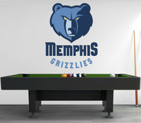 Memphis Grizzlies Logo Wall Decal Sport Sticker Decor Vinyl NBA CG048