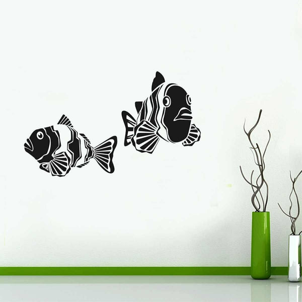 Two Fish Wall Sticker Home Decor Removable Art Vinyl Decal Mural Living Room