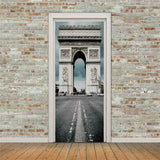 3D structure Self-adhesive Living Room Door Stickers Murals Photos home decor