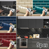 Imitation Brick Wall-Stickers For Living Room TV Background Decor Waterproof A