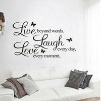 Wall Sticker Love Live Quotes Words Inspirational Decoration PVC Home Decor DIY