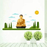 Buddha Monument Wall Sticker Home Decor Removable Vinyl Decal Mural Living Room