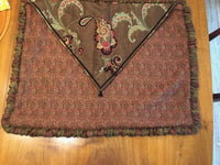 Eastern Accents Pillow Case Sham Cover Brown Burgundy Standard Paisley