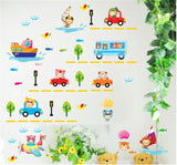 Car train vehicle Home room Decor Removable Wall Sticker/Decal/Decoration