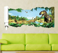 Forest Dinosaur Pattern Wall Stickers For Living Room for decorate the wall