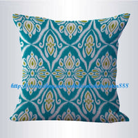 throw pillow case covers teal ikat accent cushion cover