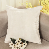 Home Brilliant Solid Throw Pillows Decorative Accent Pillow Case Striped Corduro