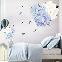 Home Decoration Blossom Peony Flower Wall Sticker Bedroom Living Room Art