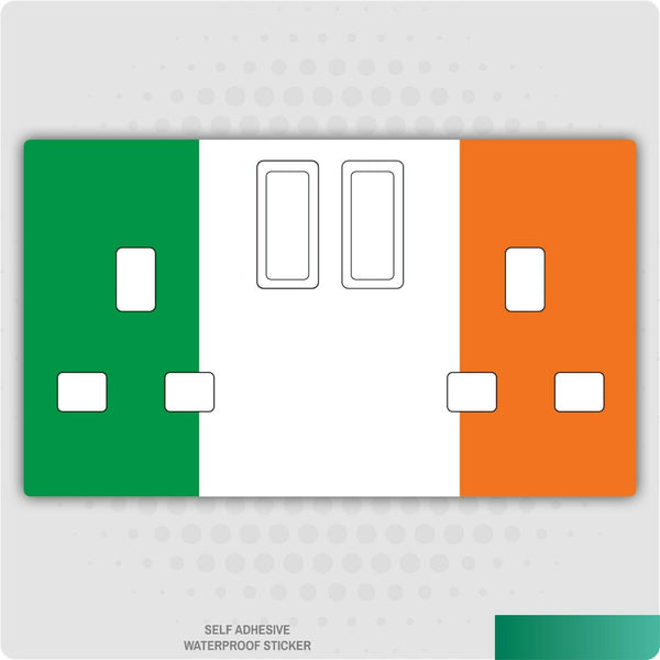 Irish Ireland UK Plug Socket Stickers Kids Bedroom Living Room Decor Nursery