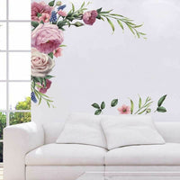 Removable Rose Flower Wall Stickers Mural DIY Art Decal Home Living Room Decor