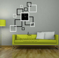 Acrylic Stickers Hollow Frame Shape Living Room Mirror Wall Sticker Home Decor