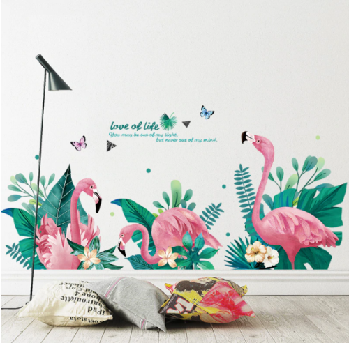 Flamingo Animal Wall Sticker Bedroom Living Room Decoration 60X90cm Wall Sticker