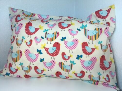 "1 ofA Kind Cotton Cover TRAVEL / CHILD DECORATOR Pillow Case for 18 x 12"" Birds"