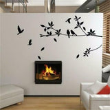 Flying Bird Tree Branch Vinyl Cut Wall Stickers Bedroom Living Room Decoration R