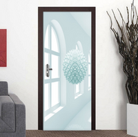 3D Self-adhesive Space Ball Living Room Bedroom Door Murals Sticker Decorative