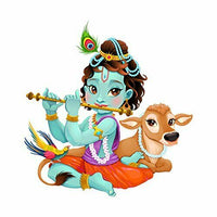 Lord Krishna Wall Sticker Removable Art Home Decor Decal Mural Kids Living Room