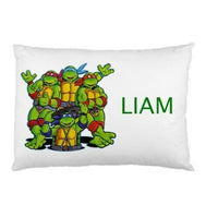 TEENAGE MUTANT NINJA TURTLE CUSTOM PERSONALIZED CHILDRENS CHILD PILLOW CASE