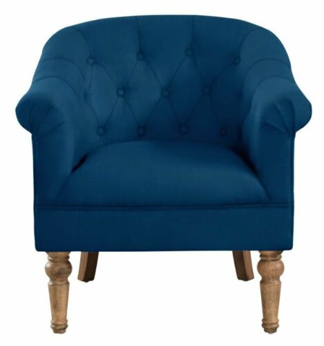 """Welbeck"" Accent Chair Tufted Bucket Roll Arm in 3 Fabrics Colours Upholstered"