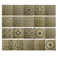 GI- Moroccan Style Vintage PVC Tile Stickers Living Room Kitchen Home Wall Decor